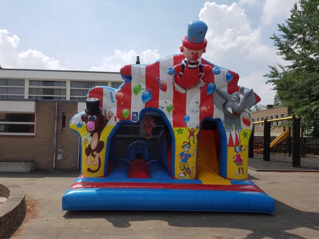 Clown disco springkussen huren